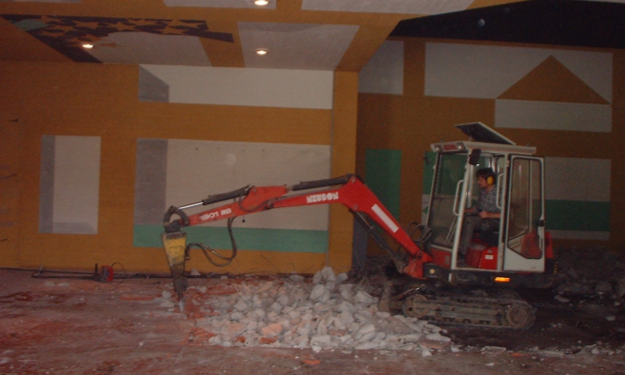 Umbau des Festsaales 2001